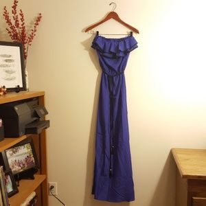 Royal Blue Maxi Dress by Rampage